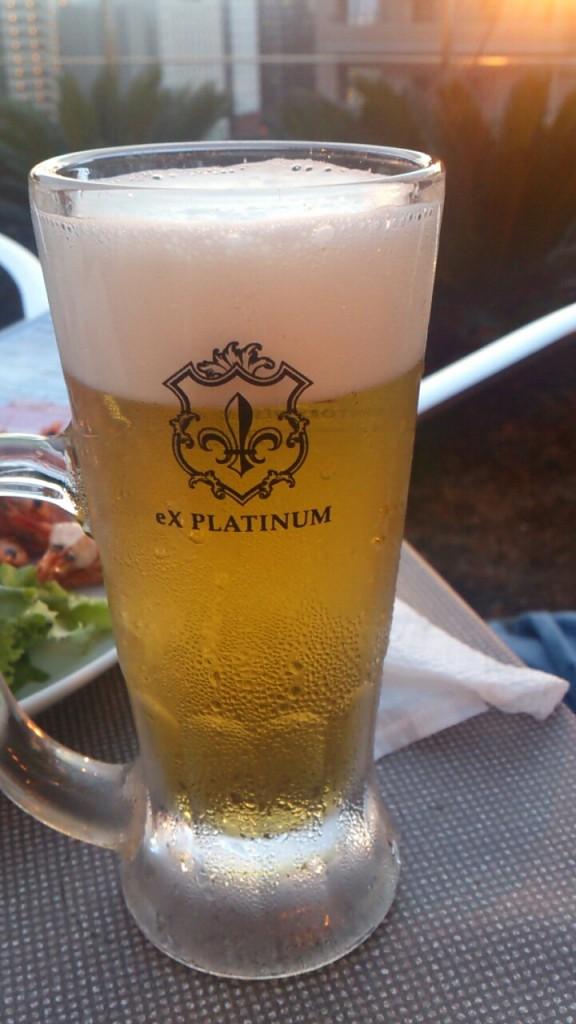 イクスプラチナムの生ビール